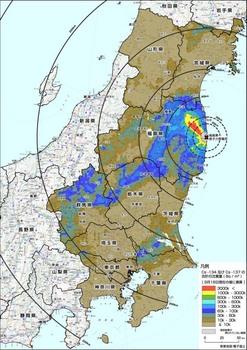 航空機モニタリングセシウム汚染20111006.jpg